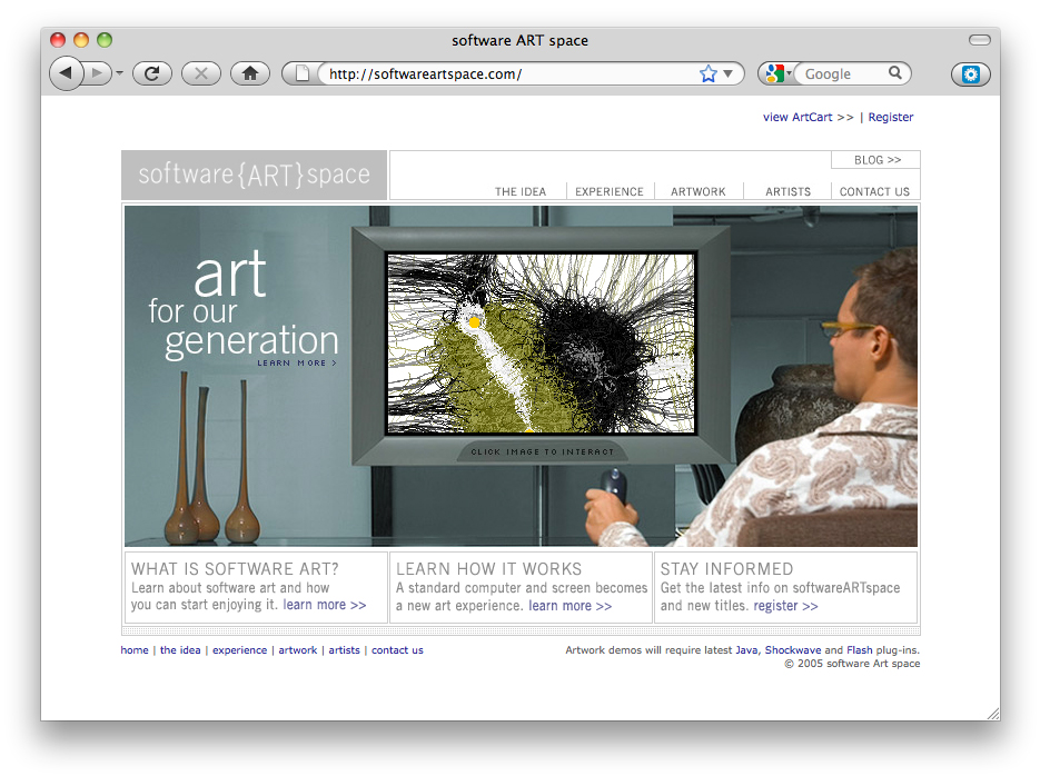 Software Art Space Online Portfolio Thumbnail Image by Studio 23 | Lee Willett, Creative Director | Web Design and Development | Westchester, New York