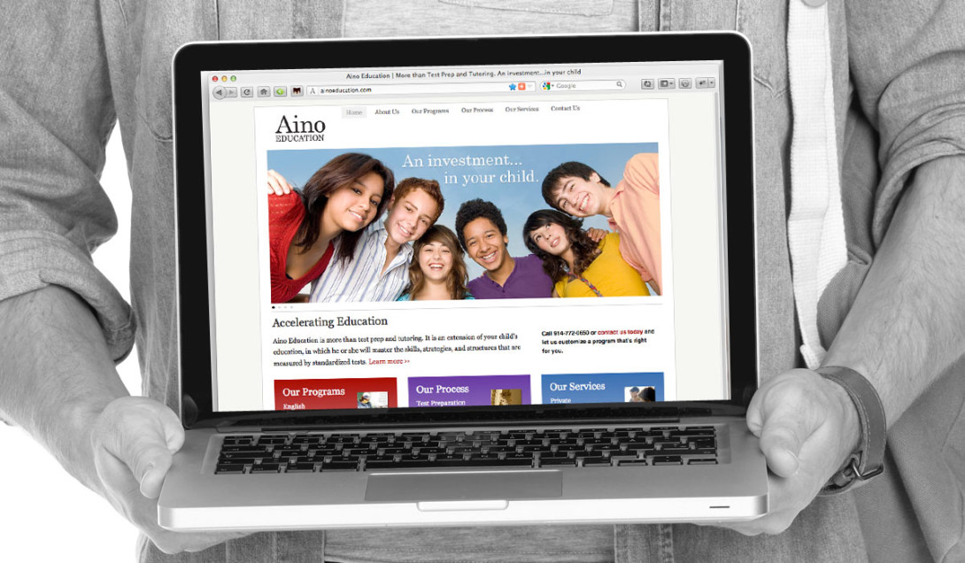 A New Site for Aino Education Portfolio Thumbnail Image by Studio 23 | Lee Willett, Creative Director | Web Design and Development | Westchester, New York