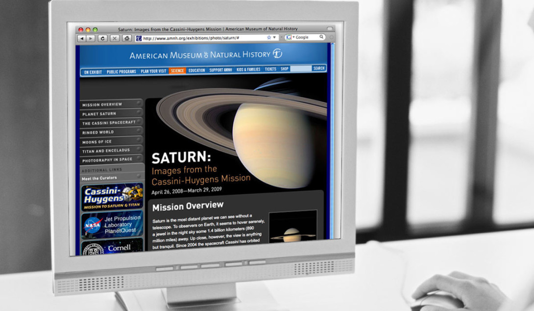 A Site That's Out of This World for AMNH Portfolio Thumbnail Image by Studio 23 | Lee Willett, Creative Director | Web Design and Development | Westchester, New York