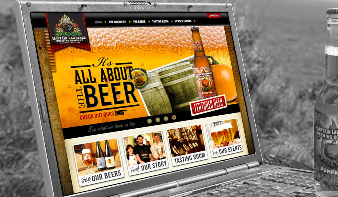 Captain Lawrence Brewing Company Portfolio Image by Studio 23 | Lee Willett, Creative Director | Web Design and Development | Westchester, New York