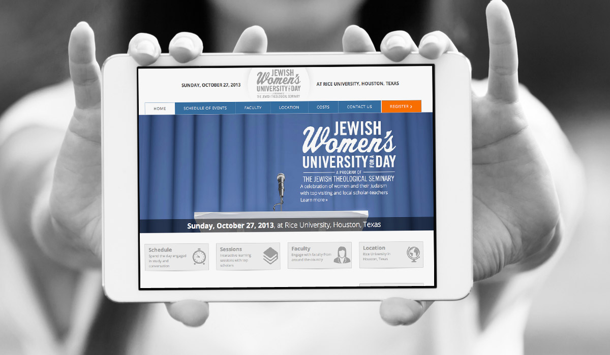 Jewish Women's University for a Day Website