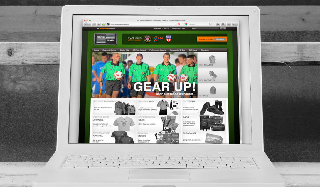 Official Sports Kicks Off a New, Secure Store Portfolio Thumbnail Image by Studio 23   Lee Willett, Creative Director   Web Design and Development   Westchester, New York