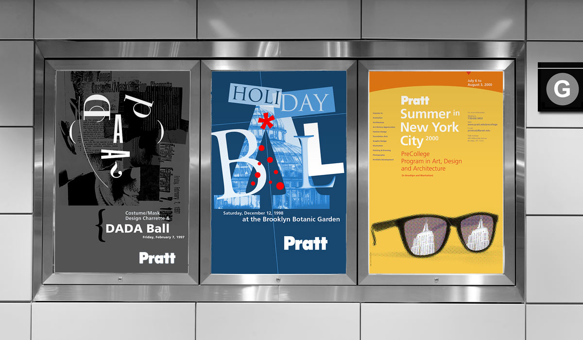 Pratt Institute Promotional Posters by Lee Willett / Studio 23