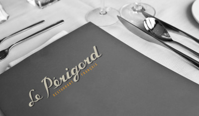 Le Perigord Restaurant Identity Portfolio Image by Studio 23 | Lee Willett, Creative Director | Web Design and Development | Westchester, New York