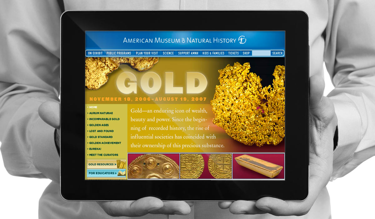 American Museum of Natural History Exhibition Le Perigord restaurant website design by Lee Willett / Studio 23
