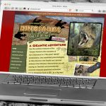 Dinosaurs Alive Website Design by Lee Willett / Studio 23