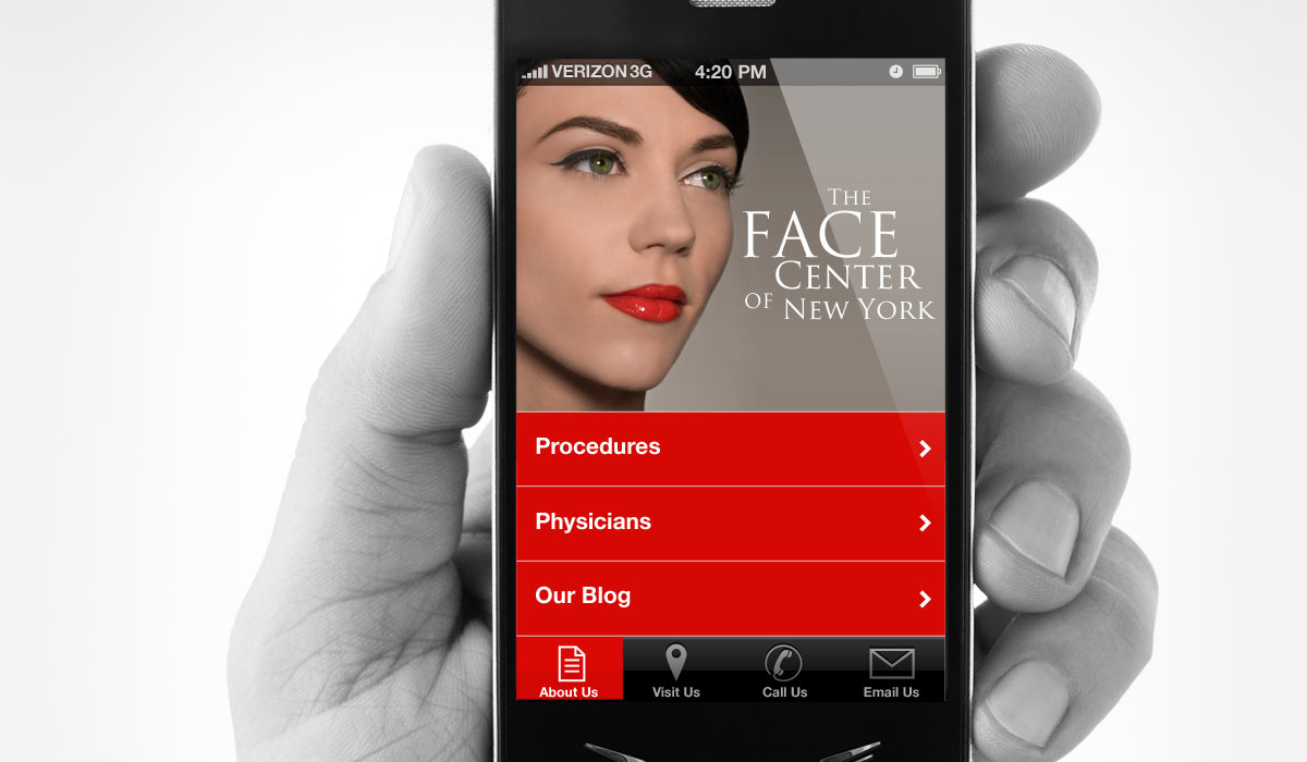Face Center Mobile Website by Lee Willett / Studio 23