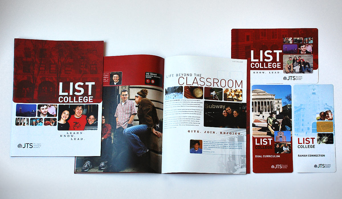 List College Promotional Materials by Lee Willett / Studio 23