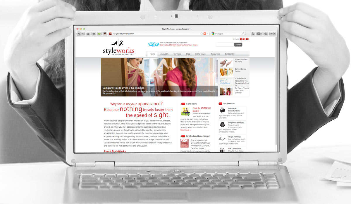 Styleworks of Union Square Website Designby Lee Willett / Studio 23