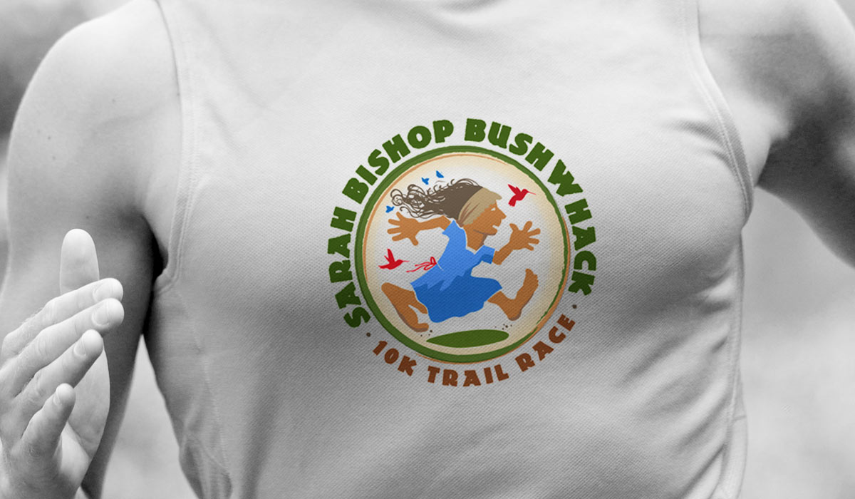 Sarah Bishop Bushwhack Trail Race identity by Lee Willett / Studio 23